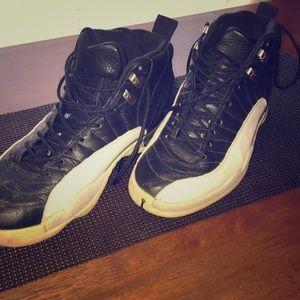 Jordan 12s. Size 10. Black and white